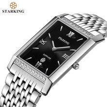 Starking masculino quartzo analógico relógios de negócios 2020 chegada moda casual retângulo aço inoxidável à prova dwaterproof água relógios bm0778