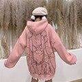 Каваи свитшот с Луной уличная кепки, кепки в стиле свитшоты с рисунком персонажей из мультфильмов пуловеры больших размеров с капюшоном ули...