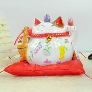 7 inch Lucky Cat Porcelain Lucky Cat Home Feng Shui Decoration Decoration Lucky Cat Piggy Bank, Christmas, Birthday Craft Gift
