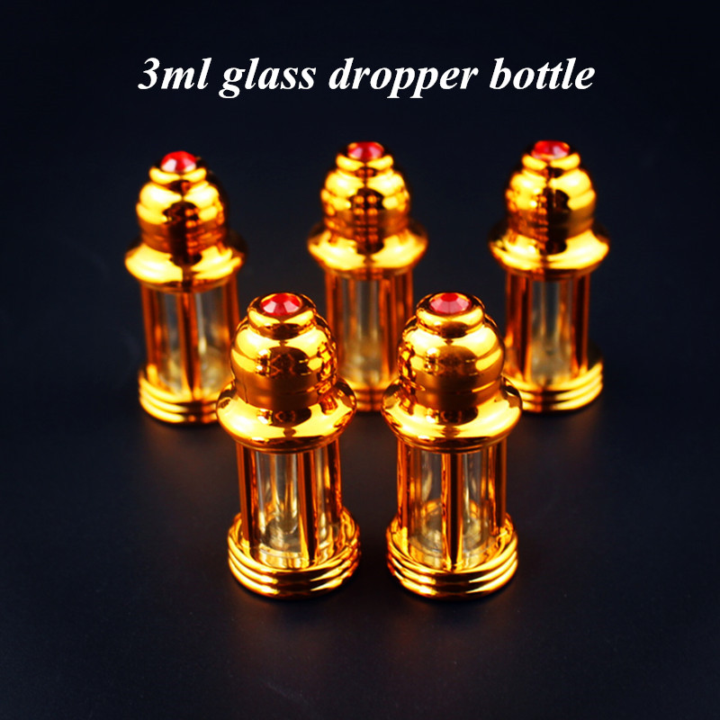 1PC 3ml Glass Essential Oil Bottle With Dropper Stick Empty Display Bottle Vials Small Perfume Sample Test Bottle