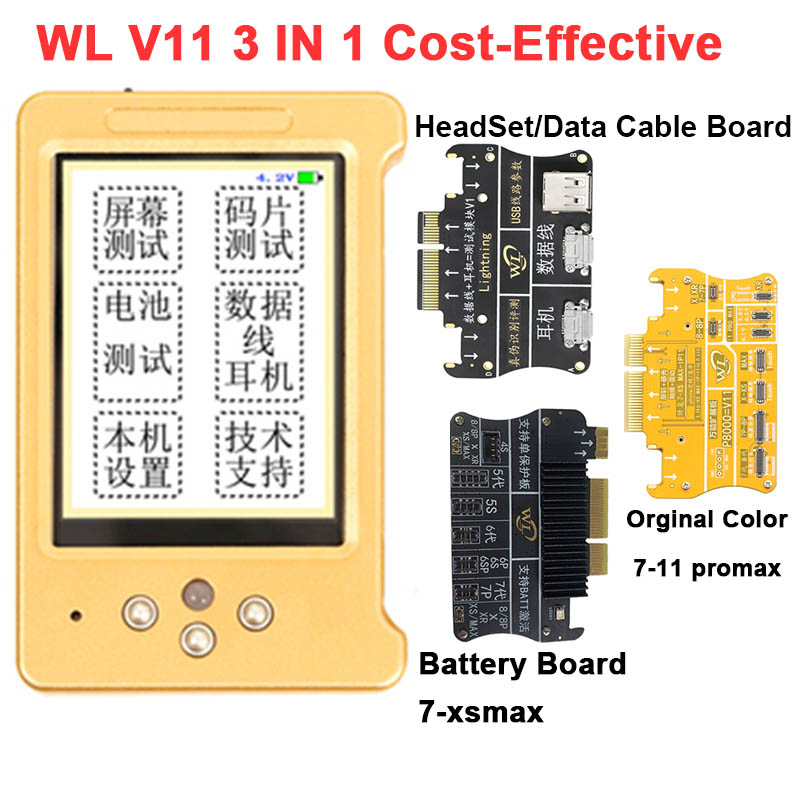 WL V11 LCD Screen Original Color Programmer For IPhone 11 XR XSMAX XS 8P 8 7P Earphone/Touch/Battery Repair Good As Qianli ICopy