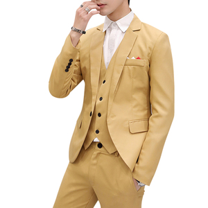Men Slim Fit Social Blazer Spring Autumn Fashion Solid Wedding Dress Coat Casual Plus Size Business Male Suit Jacket