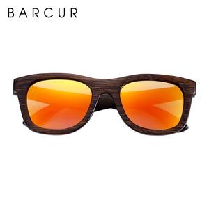 Image 3 - BARCUR Wood Sunglasses Bamboo Brown Full Frame Wooden Sun Glasses Men Polarized Vintage Women Eyewear