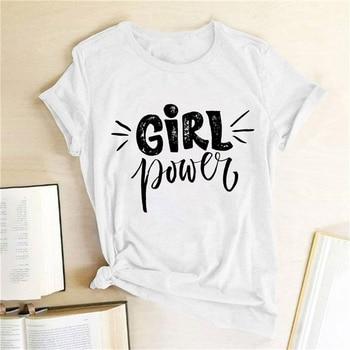 Girl Power Cute Cat Printed Tshirt fashion casual women's short-sleeved Devil Black Cat harajuku women shirts Interesting tshirt black cat printed panties