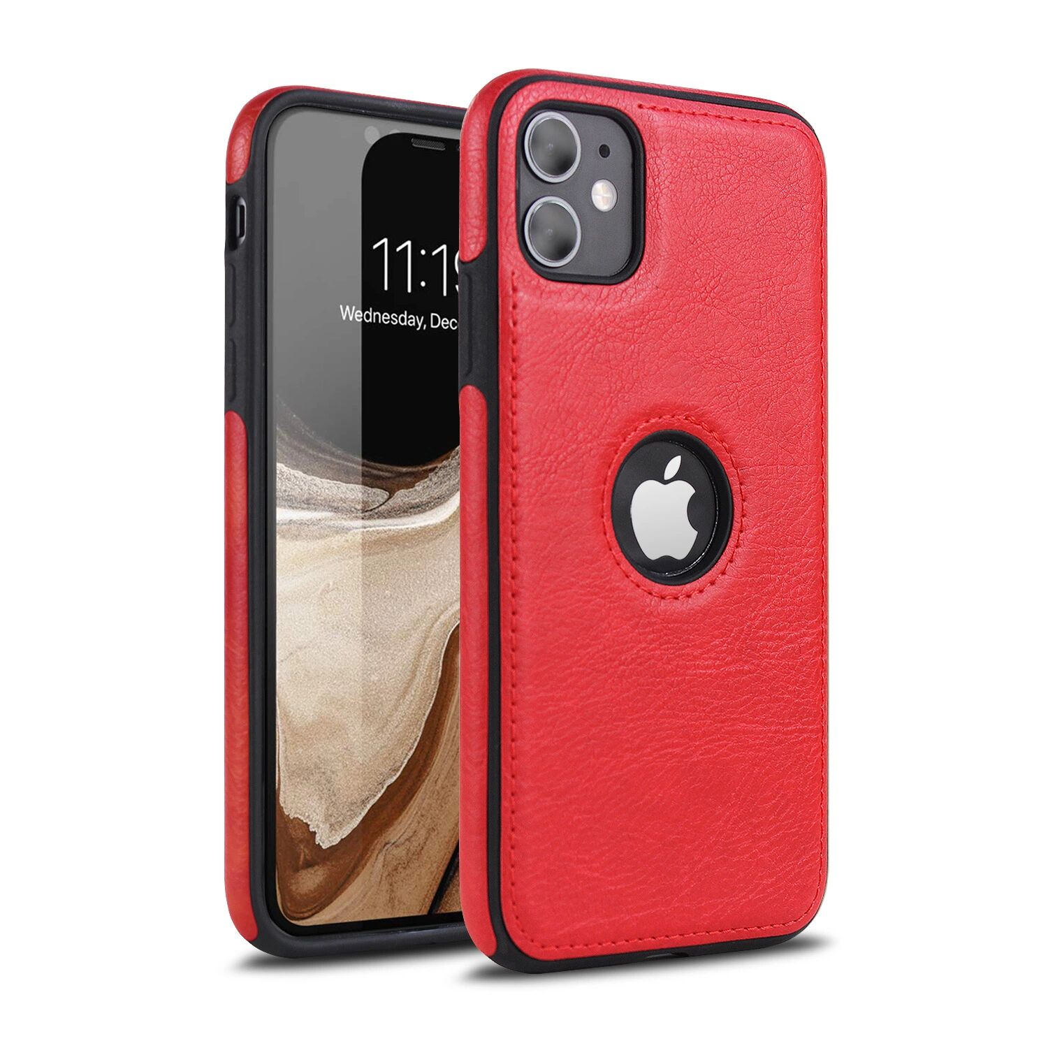 Applicable Car Line Skin Stitching Mobile Phone Skin Case For iPhone 11pro Max 2