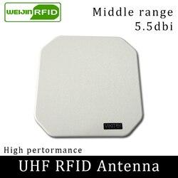 UHF هوائي RFID 915MHz VIKITEK الاستقطاب الدائري كسب 5.5DBI المسافة المتوسطة المستخدمة ل زيبرا FX7500 FX9500 FX9600 القارئ