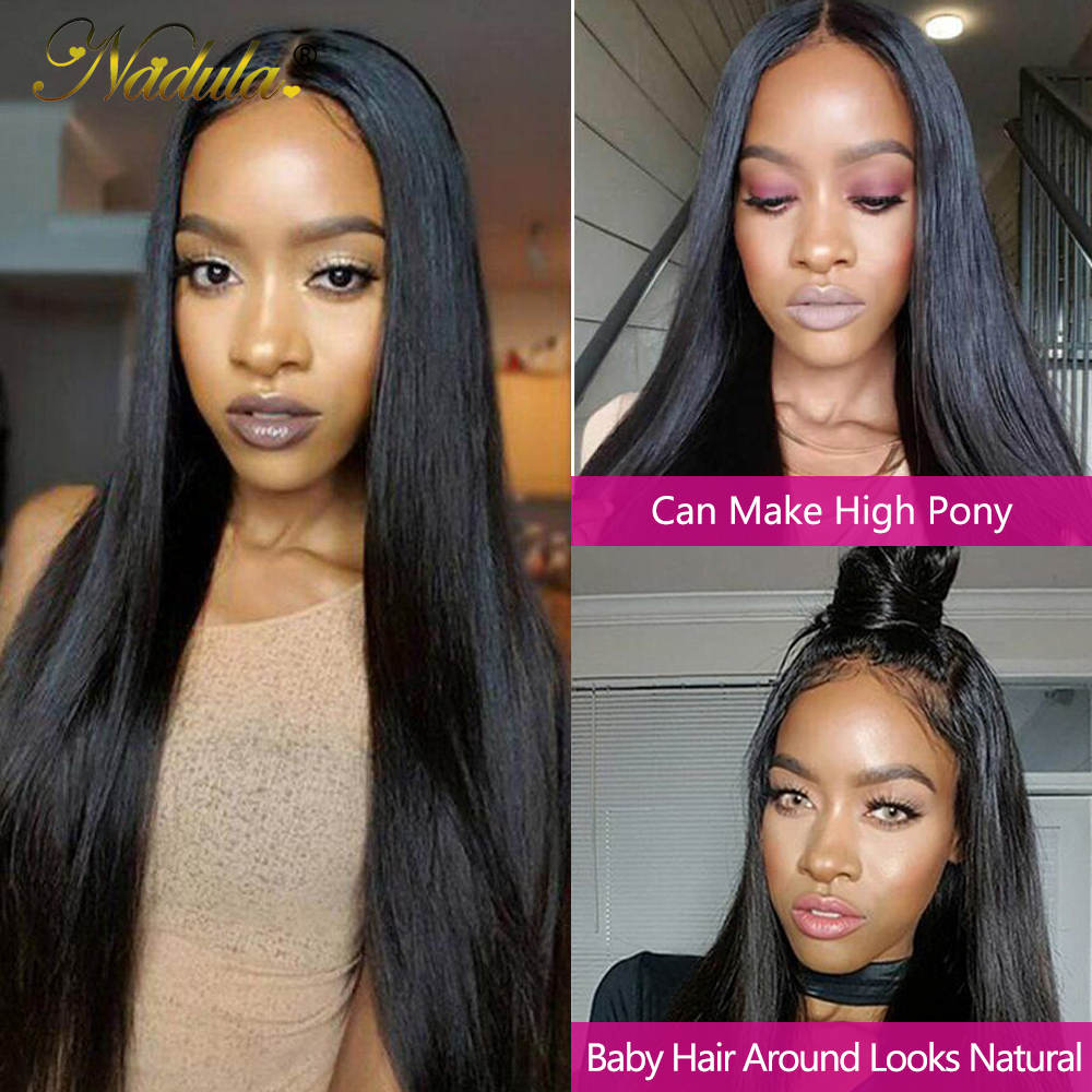 Nadula Hair 5x5 HD Lace Front  Wigs for Black Women Straight Hair HD Lace Frontal Wig brazilian Hair Full Wig 28inch 2