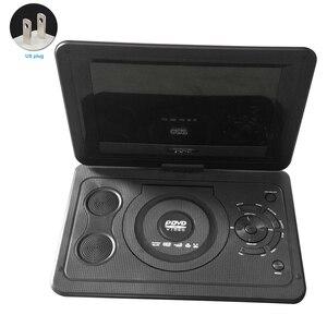 Leitor de dvd casa tela giratória ao ar livre do carro 13.9 polegada mini bateria recarregável usb cd portátil tv lcd jogo hd