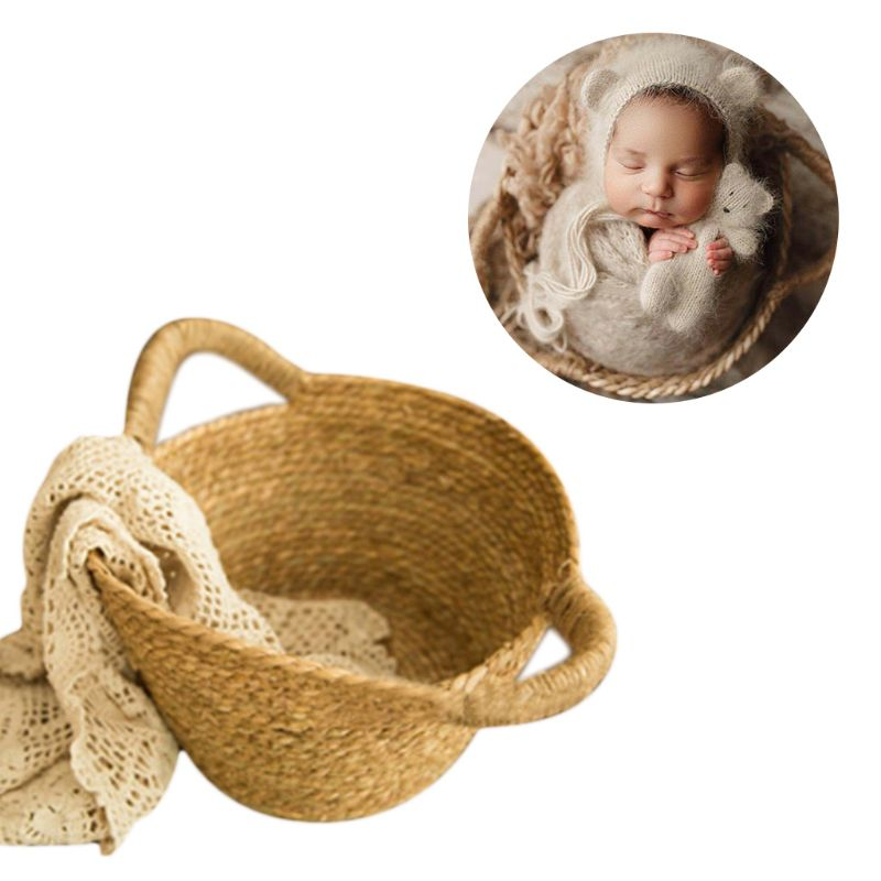Newborn Photo Shooting Basket Children Woven Baskets Baby Full Moon Photography Props