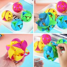 Creative Hand Played  Turn Telescopic qiu Color Deformation Ball Props Magic Puzzle Kids Decompression Toys