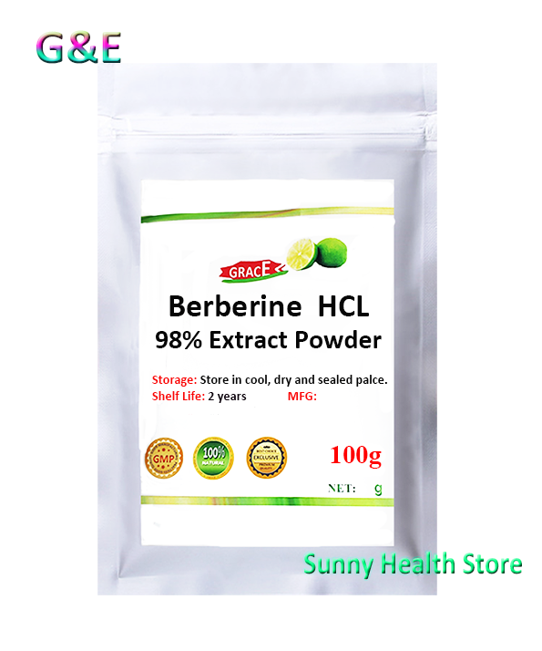 High Quality,98% Berberine HCL Extract Powder,Berberis, Control Blood Sugar,Free Shipping image