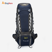 Outdoor 60L Tourist Backpack Hiking Travel Mountaineer Wear Resistant Backpacks Waterproof Nylon Trekking Camping Bags Men Women