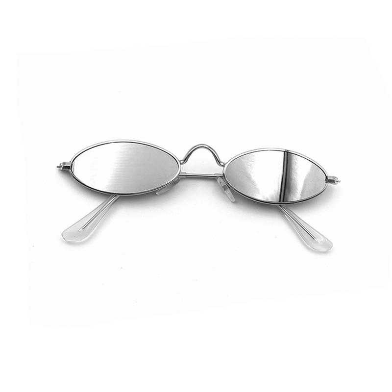 Hommes femme créateur de mode marque de luxe rétro petit ovale lunettes de soleil femmes Vintage nuances noir rouge métal lunettes de soleil Lunette