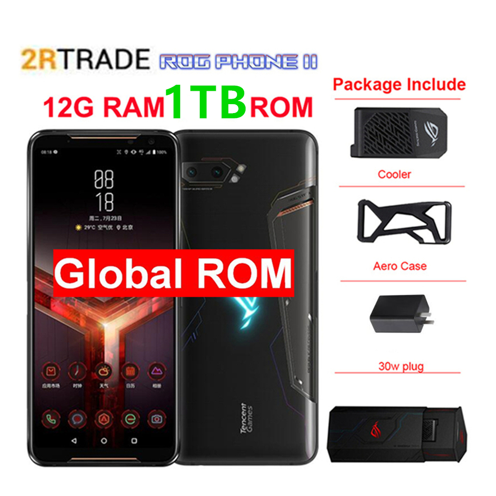 """Asus ROG 2 12G RAM 1TB ROM Super Game phone ZS660KL Mobile Phone Snapdragon855+ 6.59""""1080x2340 h 48MP 6000mAh Android 9.0(China)"""