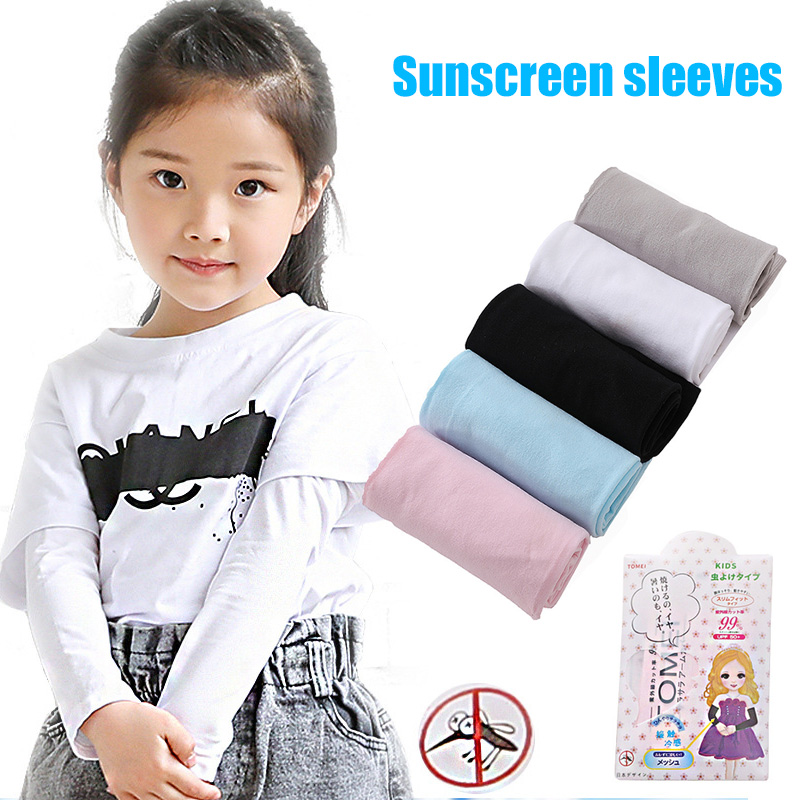 Children Sunproof Ice Silks Arm Sleeve Summer Sun UV Protection Cooling Sleeves For Outdoor Sports FS99