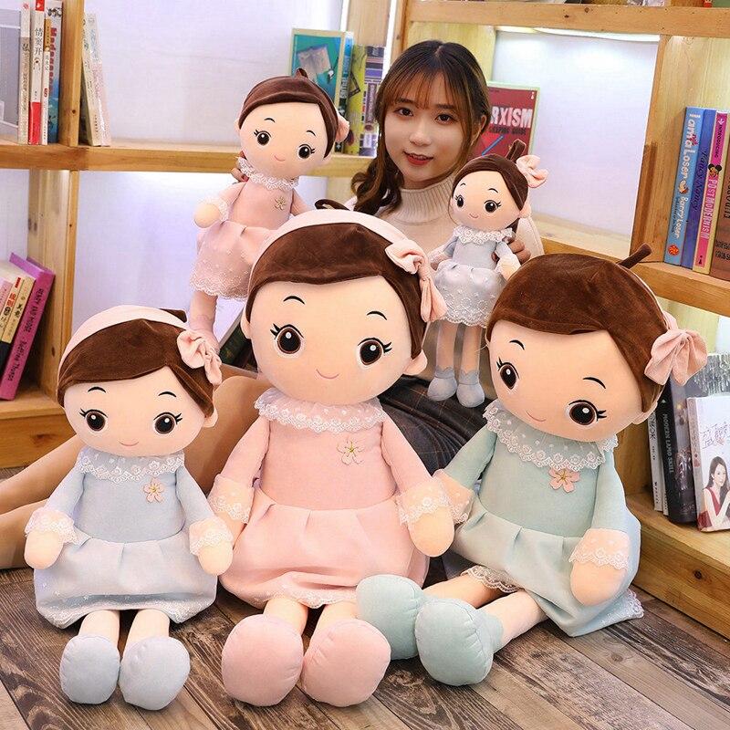 Hot Lovely 1PC 40cm-90CM Plush Toys Princess Girls Doll Soft Flower Skirt Spring Cute Children Toy Christmas Gift Toys For Girls