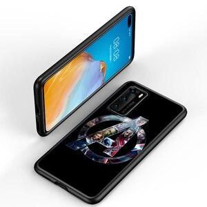 Image 3 - Marvel Avengers için P40 P30 P20 Pro P10 P9 P8 Lite RU E Mini artı 2019 2017 siyah telefon kılıfı