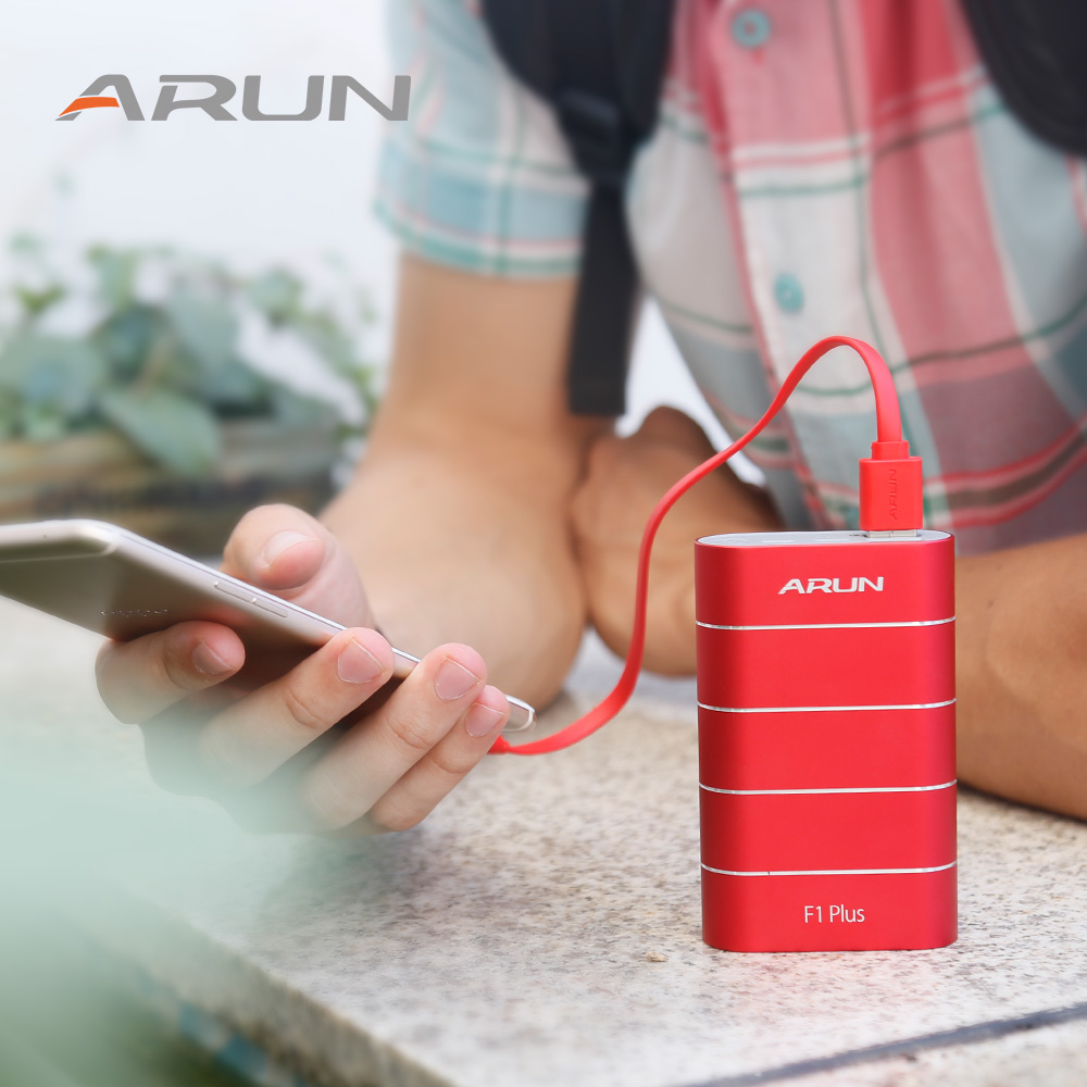 ARUN 10000mAh Power Bank Slim USB <font><b>10000</b></font> <font><b>mAh</b></font> Powerbank Portable External <font><b>Battery</b></font> Charger <font><b>Pack</b></font> For Xiaomi Mi 3 iPhone Power Bank image