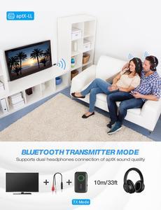 Image 5 - Приемник передатчик Mpow BH390 Bluetooth 5,0 2 в 1 с поддержкой APTX/APTX LL/APTX HD с разъемом 3,5 мм/RCA для ТВ, автомобиля, домашнего аудио, ПК