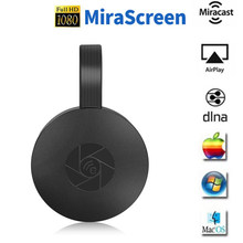 Wifi sem fio display dongle tv vara completa 1080p chromecast hdmi miracast dlna tv elenco exibição ios/android chrome/windows