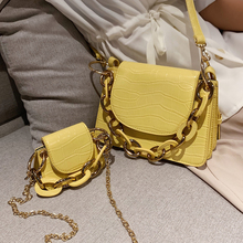 Retro Stone Pattern Tote Bag Women Casual Pu Small Handbag Fashion Shoulder Bags Chic Chain Solid Color Messenger Bag For Women