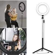 цена на Portable Ring Fill Light Dimmable Lighting 20cm Universal Video Light Lamp Phone Photography Bluetooth Selfie Photo Sudio Stand