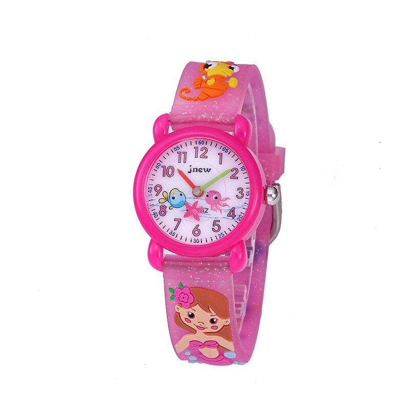 TurnFinger силикон мультфильм дети% 27s кварц часы водонепроницаемый милый узор начальная школа мальчики и девочки мода роскошь подарок