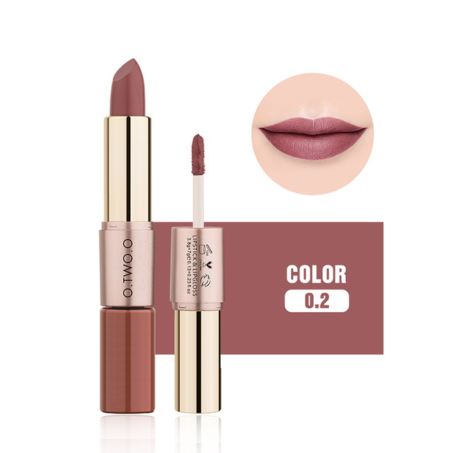 O.TWO.O 12 Colors Velvet Matte Lipstick Sexy Makeup Long Lasting Pigment  Moisture Cosmetic Waterproof smooth Lips Stick TSLM2 3