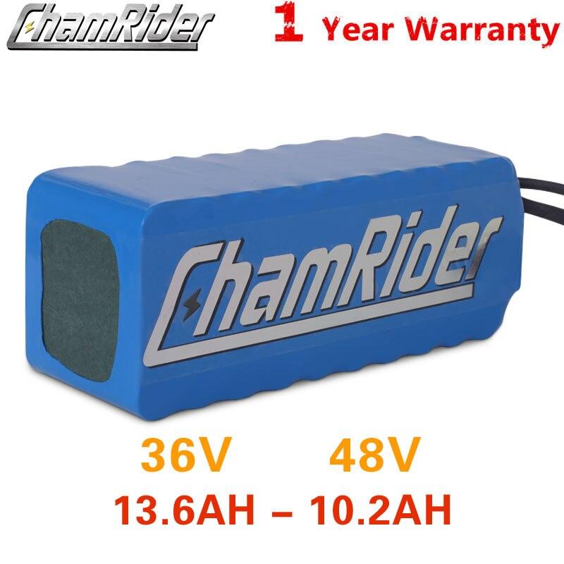 Chamrider 36 v bateria 10ah ebike bateria 20a bms 48 v bateria 30a 18650 bateria de lítio para bicicleta elétrica scooter elétrico