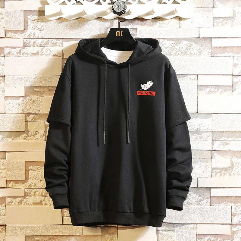 Cool Black Spring Winter Man Hoodies Sweatshirt Casual Hip Hop Hoodie Streetwear Fashion Loose High Street Japan Clothing Male
