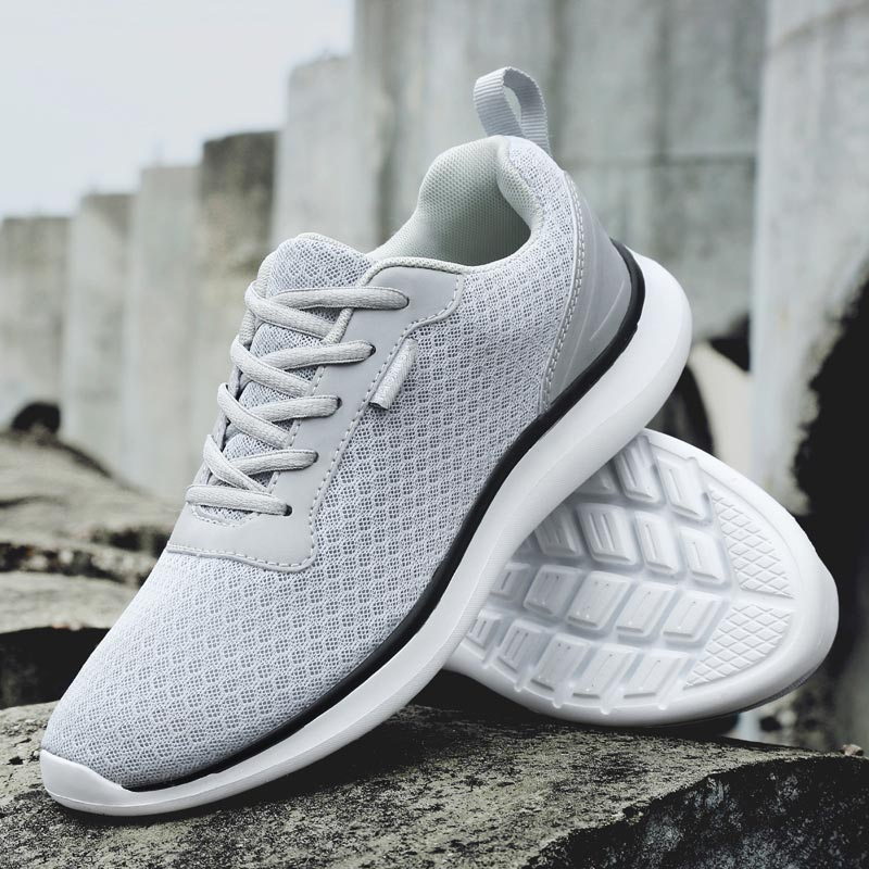 Large Size Summer Sneakers Male Running Shoes Man Sports Shoes Men Sport Shoes Man Trainers Gray Tennis Training Walking E-272