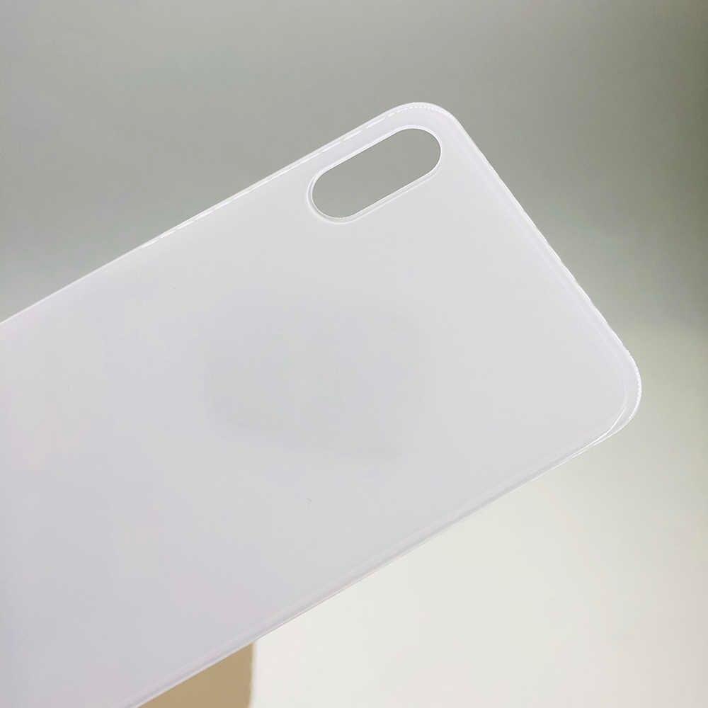 Европейская версия CE Mark, Задняя стеклянная крышка с большим отверстием для батареи, задняя дверь, корпус, чехол, Задняя стеклянная крышка для iPhone X XS MAX