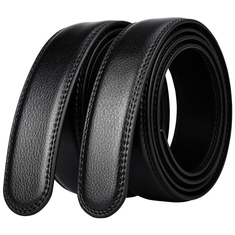 3.0cm Width Belt No Buckle For Automatic Buckle Men Women 3.5cm Wide Genuine Leather Belt Body Without Buckle