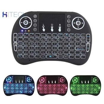 I8 Mini Wireless Keyboard 2.4Ghz English Russian 3 colour Air Mouse with Touchpad Remote Control Android TV Box t2 c wireless russian keyboard with multimedia remote control flying mouse keyboard 2 4ghz usb rechargeable android remote contr