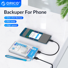 ORICO Backuper Backup for Phone Support  4TB Capacity 5Gbps SATA TO USB C Port One-touch Backup/Delete For Travel,Parties,Work