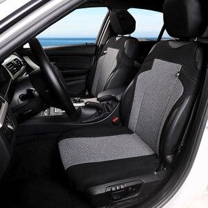Image 2 - Funda para asiento de coche, Cubiertas de asiento delantero transpirable, decoración de alta calidad, 3 colores, Protector Universal para la mayoría de los vehículos