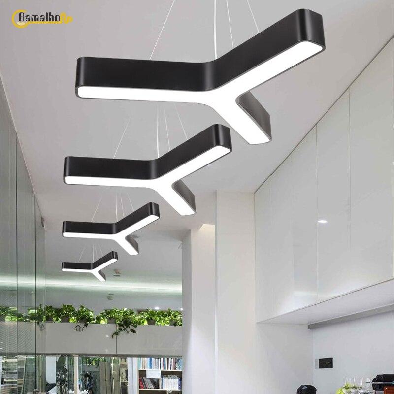 Современный Офисный светодиодный подвесной светильник в форме подвесной светильник студийный Конференц-зал подвесные светильники