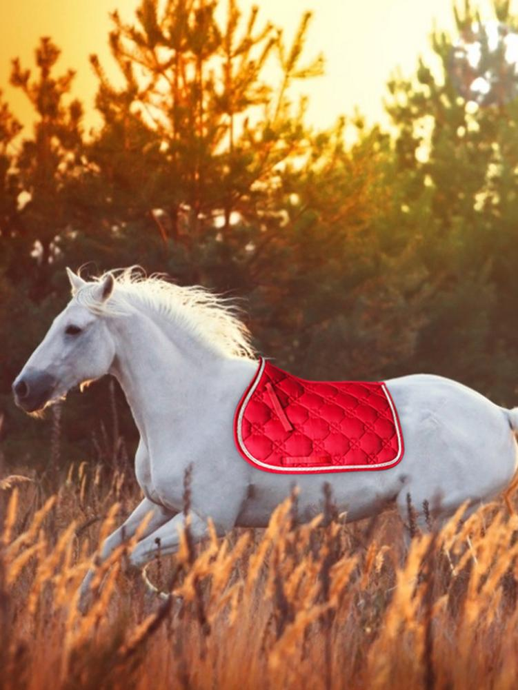 Breathable Horse Saddle Pad Sweat-absorbent Equestrian Bareback Riding Pad Horse Riding Jumping Performance Equipment
