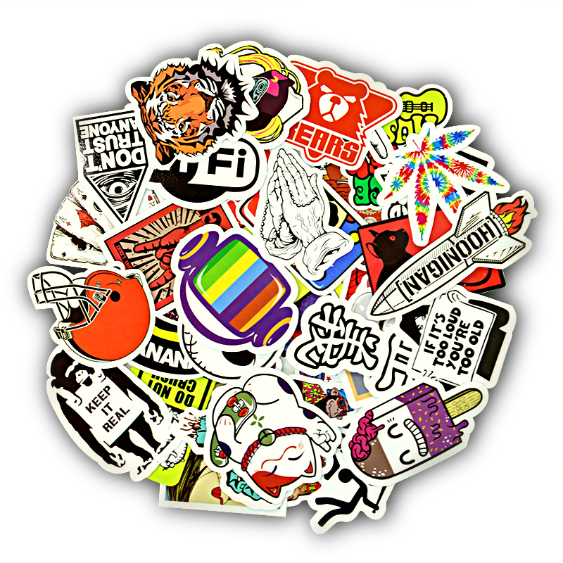 50 pcs Mixed Cartoon Toy Stickers for Car Styling Bike Motorcycle Phone Laptop Travel Luggage Sticker Bomb JDM Car Accessories(China)