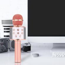 WS 858 bluetooth караоке микрофон беспроводной Профессиональный динамик consender ручной микрофон Радио Студия Запись микрофон