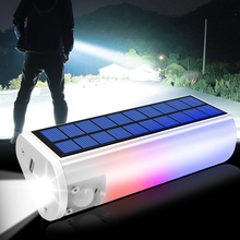 Rechargeable 650 Lumen LED Waterproof Solar Flashlight USB Cell Phone Charger Indoors or Outdoor Use Portable Solar Light