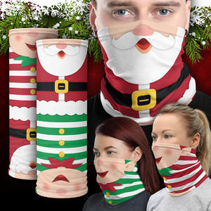 Scarf Neck-Warmer Sport Outdoor Bandana Face-Wrap Christmas-Series Pattern Magic -Z Windproof