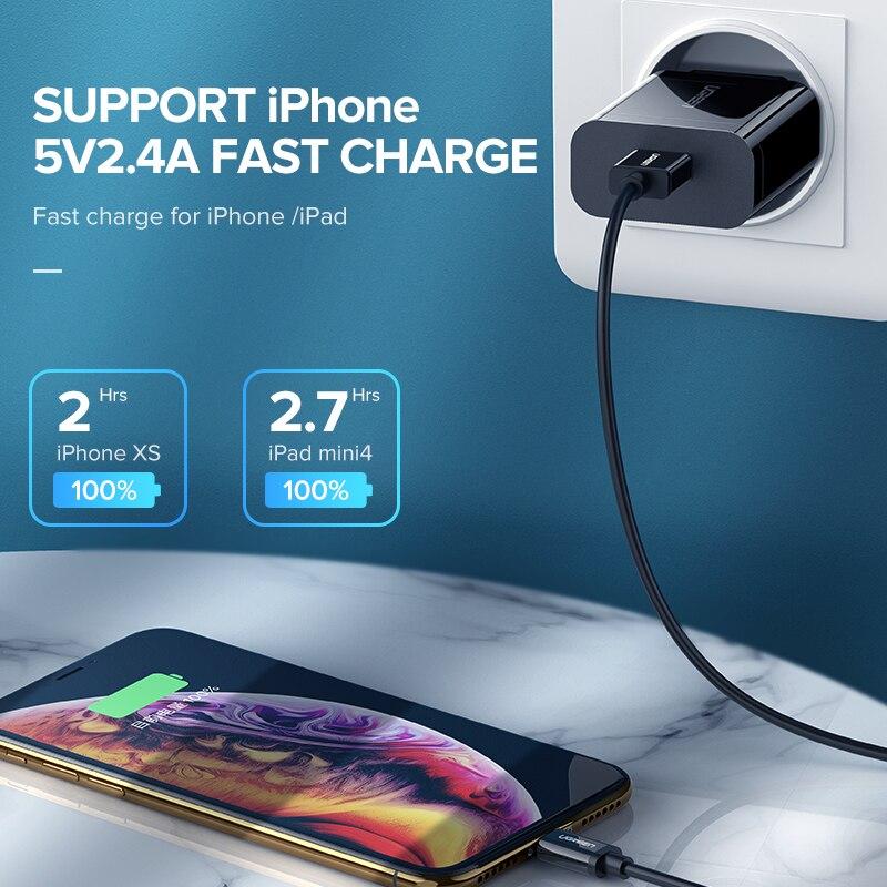 Mbushës i shpejtë me USB Ugreen 3.0 QC 18W USB Mbushës QC3.0 - Aksesorë dhe pjesë të telefonit celular - Foto 4