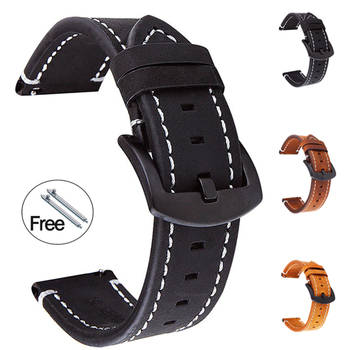 Watch Strap 20mm 22mm Genuine Leather Band for Samsung Galaxy Gear S2 S3 Bracelet 46mm