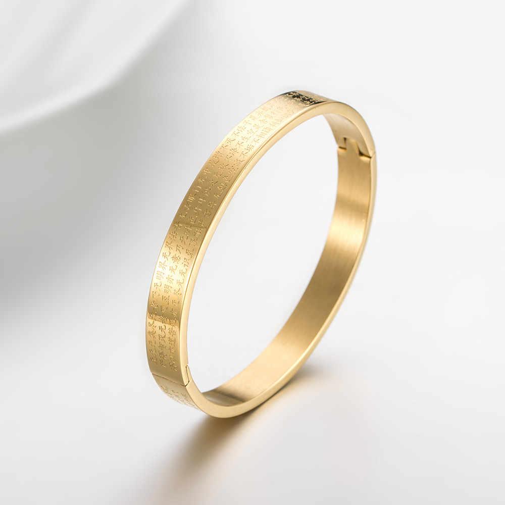 Hot luksusowe ze stali nierdzewnej srebrny złoty kolor słów dekorowanie bransoletka bransoletka nowa moda Trendy bransoletki mężczyzn biżuteria prezenty