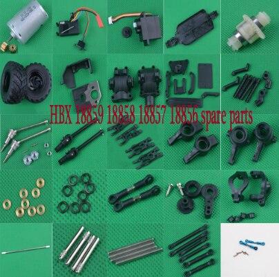 HBX 18859 18858 18857 18856 1/18 RC Car Spare Parts Motor Gear Servo Receiver Differential Drive Shaft Swing Arm Wheel Etc.