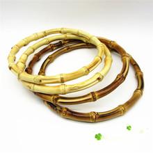 1 sztuk okrągły bambusowa torba uchwyt do ręcznie robionych torebka DIY torby akcesoria dobrej jakości 15x15cm tanie tanio Z tworzywa sztucznego ZKK584 15x15cm 5 91x5 91 (approx)