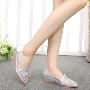 Image 2 - STAN SHARK New Womens Summer Fish Mouth Wedge Sandals Shoes Rhinestones OL Hollow Net Shoes