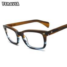 Классические ацетатные мужские очки по рецепту, ретро очки для близорукости, очки в стиле пэчворк, дизайнерская оправа для очков 617G