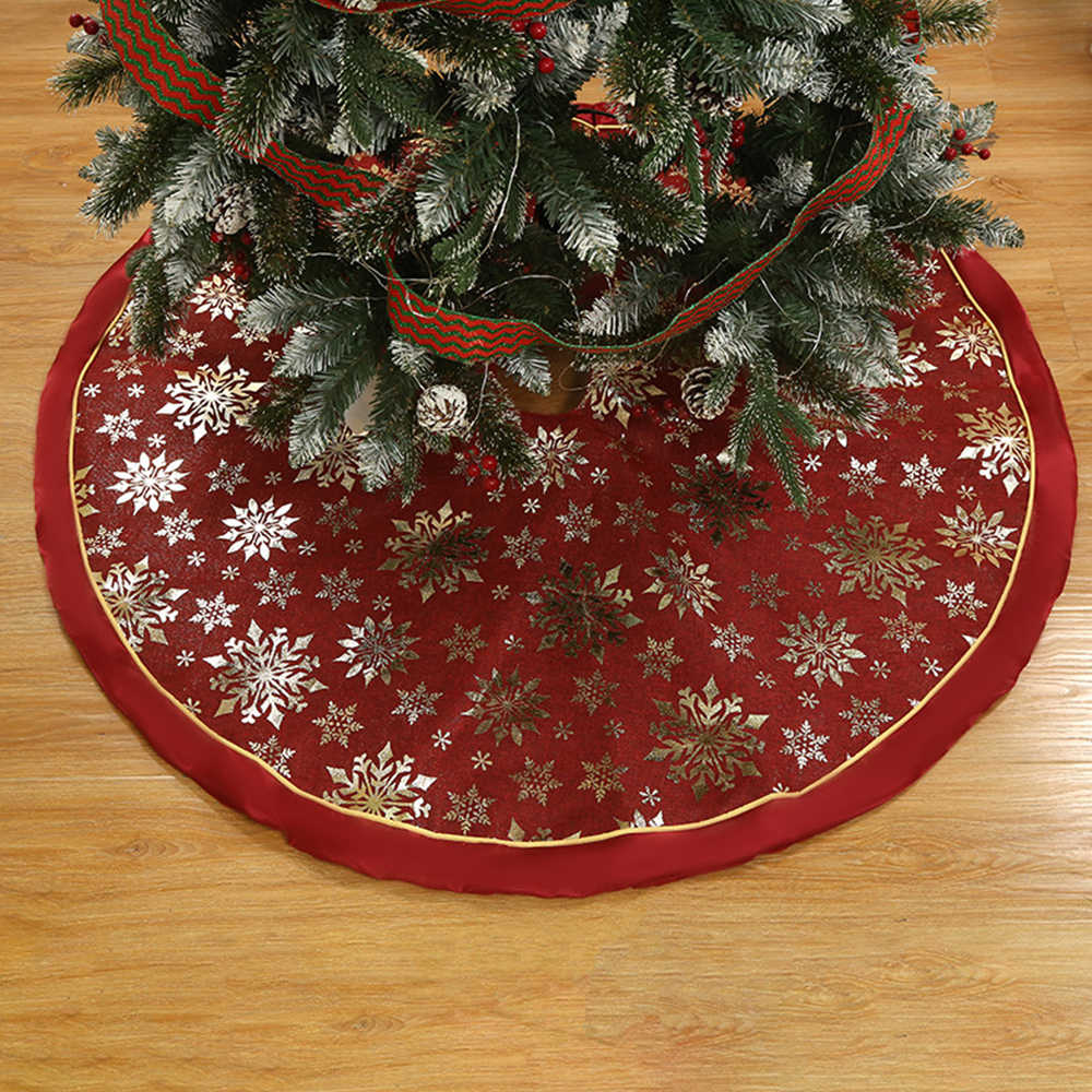 1 Piece Christmas Tree Skirt 120cm Carpet Merry Christmas Decorations For Family Natal Tree Skirt New Year Decoration Navidad